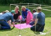 <h5>Teamwork, reuzenvlieger bouwen</h5><p>Reuzenvliegers bouwen is een mooie team activiteit.</p>