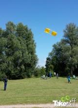 <h5>Reuzenvlieger in de lucht.</h5><p>Reuzenvliegers bouwen en vliegen met een bedrijfsuitje. Leuke uitdaging!</p>