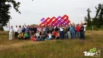 <h5>Teamfoto met Megavlieger</h5><p>Mooie teamfoto van de Megavlieger en het hele team wat hieraan meegewerkt heeft.</p>