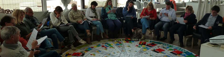 Een teamtraining waarbij deelnemers allemaal een Persoonlijk Insights Discovery profiel ontvangen.