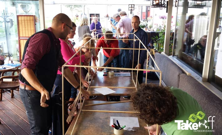Teambuilding workshop Reuzenvliegers bouwen en Management Drives