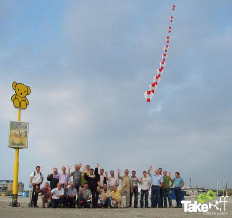 Workshop Vliegertrein maken als vergaderbreak of creatief bedrijfsuitje.