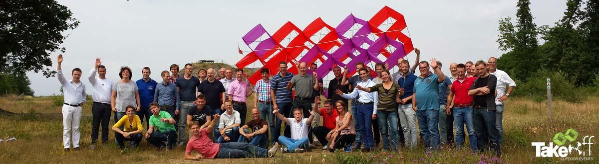 Megavlieger bouwen in Maastricht