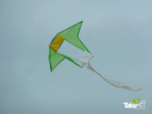Reuzevlieger in de lucht.