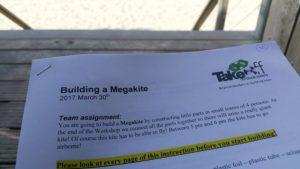 Megavlieger bouwen volgens een door ons geleverde bouwbeschrijving.