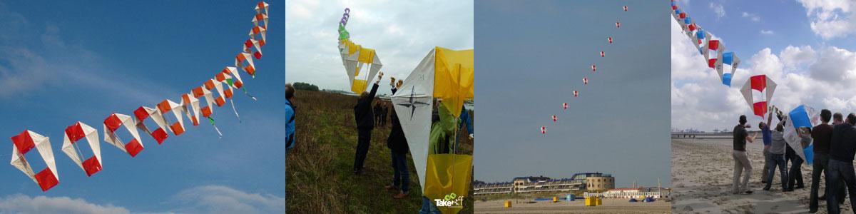 Vliegertrein bouwen als leuke vergaderbreak!
