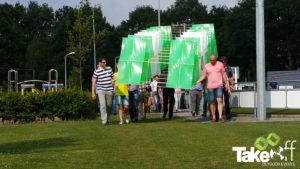 Bedrijfsuitje Megavlieger bouwen in Twente.