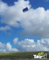 <h5>Megavlieger hoog in de lucht</h5><p>Mooie Megavlieger boven de duinen van Bergen aan Zee. Goed gedaan mensen!</p>