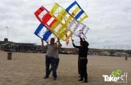<h5>Teamvlieger startklaar</h5><p>Mooie teamvlieger klaar voor de start in Scheveningen. Leuke teambuilding workshop!</p>