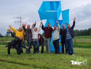 3D Reuzenvlieger in Roosendaal gebouwd tijdens een bedrijfsuitje.