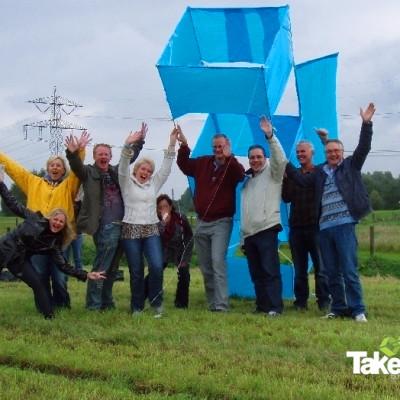 3D Reuzevlieger in Roosendaal gebouwd tijdens een bedrijfsuitje.