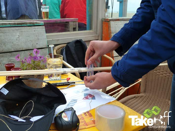 Creativiteit bij het bouwen van een reuzevlieger.