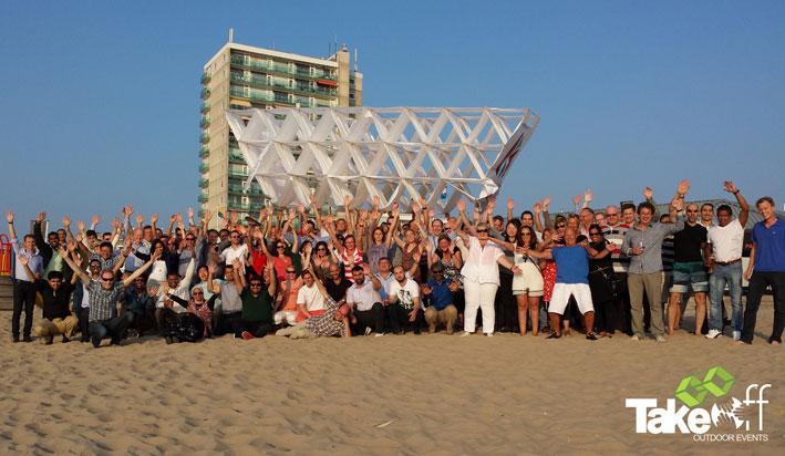 Teamfoto met alle deelnemers aan dit gezamenlijke teamproject!