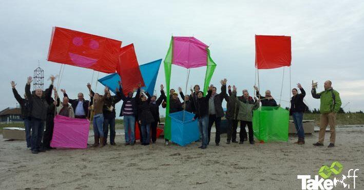 Creatief bedrijfsuitje in Harderwijk, Reuzevlieger bouwen!