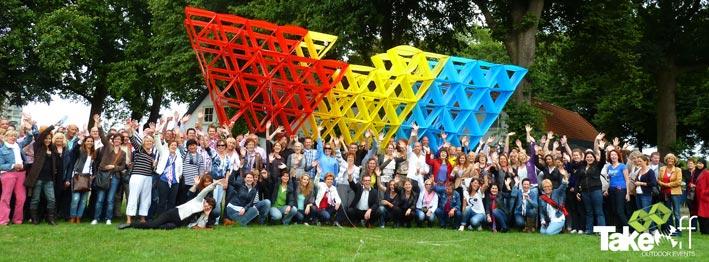 3D Megavlieger die we met de gemeente Den Bosch gebouwd hebben.