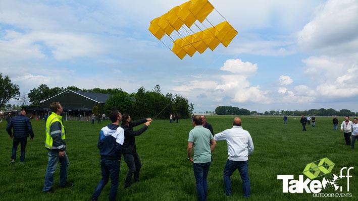 Mooie vlieger gaat de lucht in.