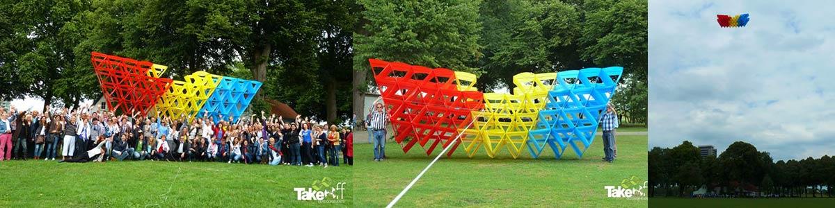 Workshop Megavlieger bouwen voor de gemeente Den Bosch